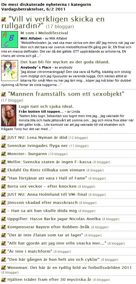 Bloggportalen.se - Vardagsbetraktelser