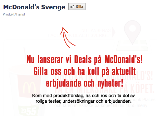 McDonalds Facebook Deals