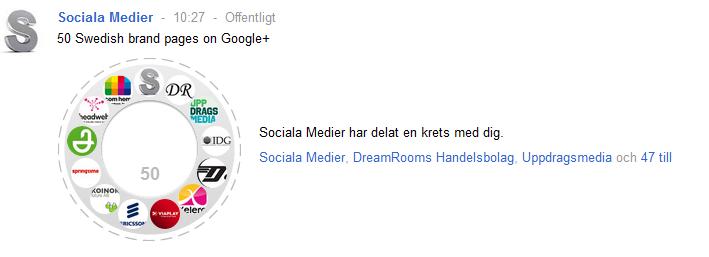 svenska företagssidor på google plus