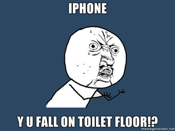 iphone toilet floor