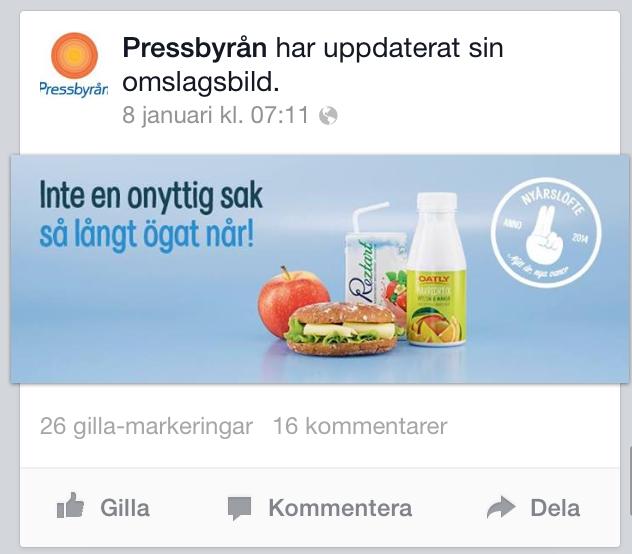 pressbyrån annons facebook