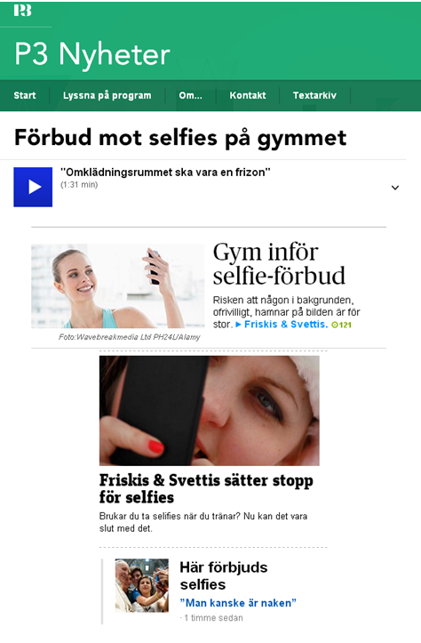 selfies friskis svettis