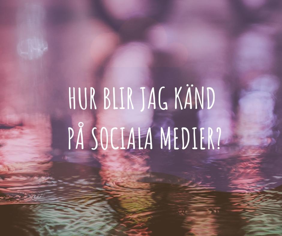 känd i sociala medier