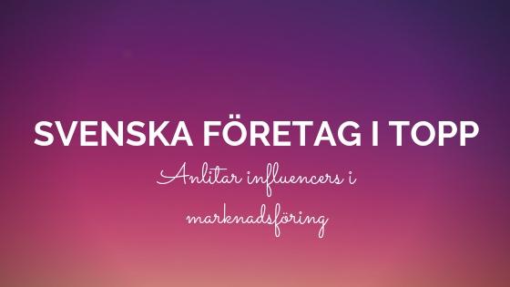 svenska företag influencers
